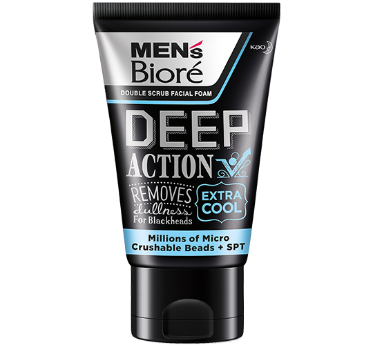 Men's Biore Double Scrub - Deep Action Extra Cool