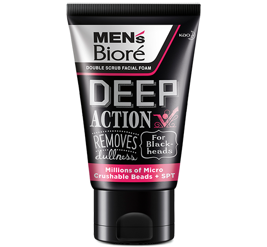 Men's Biore Double Scrub - Deep Action